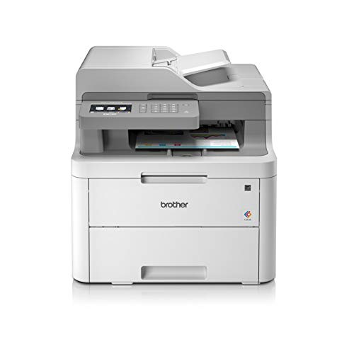 Brother DCP-L3550CDW Imprimante multifonctions 3 en 1 Laser|couleur|silencieuse 45db|Mémoire 512Mo|impression recto-verso|CAD 50f|Connexion Ethernet | Wi-Fi /direct |18ppm|Inclus 1000 pages de Toner