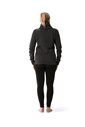 JUMPSTER Turtleneck Hoodie EXQUISITE Damen & Herren Kapuzenpulli, extra weicher Sweater mit Kragen MADE IN EU (slim / regular) Exquisite Black