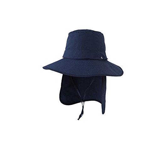 WYYY Chapeaux Hommes Visière Round Top Pliable Respirant Séchage Rapide Protection Contre Le Soleil Protection UV De Plein Air ( Couleur : Bleu foncé )
