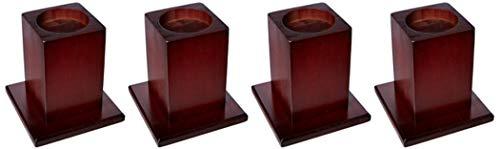 Les cubes réhausseurs en bois de Homecraft, conçus pour des lits offrant une grande stabilité, des lève-meubles. La hauteur de lit surélevée de 13 cm, une base en bois robuste, vendu par lot de 4