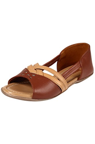 Jade Womenâ??s Sythentic Flat Fashion Sandals JDB150-Brown-39