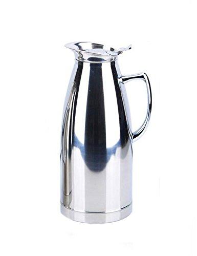 cozyle Edelstahl doppelwandige Vakuum Isolierte Thermo-Kaffee Karaffe Getränke Spender Milch Wasser Krug, edelstahl, silber, 68oz (Vakuum-isolierte Spender)