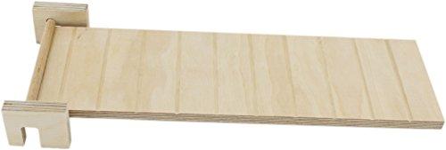 Getzoo schwenkbare Holzrampe L (32x10cm) (Tier Rampe Treppe)