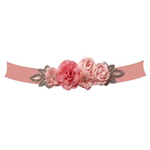 BESTOYARD Rosa Vestido de Novia de la Correa Hermosa Elegante Perla Diamante decoración para la Novia de la señora