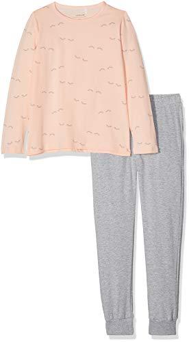 NAME IT Mädchen Zweiteiliger Schlafanzug NKFNIGHTSET AOP Noos, Mehrfarbig (Strawberry Cream), 164