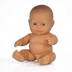 Miniland- Baby Europeo Niño 21cm Muñeco, Color real (31141)