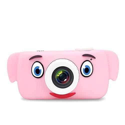 """LYCAON Kinderkamera Digitalkamera für Kinder, 8MP 1080P, 2 \""""IPS HD-Bildschirm, Spielzeugkamera mit Tier Silikonhülle(TF-Karte Nicht im Lieferumfang enthalten) (Rosa Elefant)"""