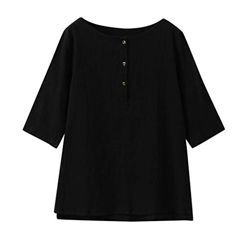 DressLksnf Frauen T-Shirt Bluse Top Einfarbiges Jacquard-Oberteil Oansatz Kurzarm Blusen Pullover Sommer Oberseiten Hemd Um Loses Unregelmäßig Hemd Blusen Hoher und niedriger Saum (Jacquard-taste)