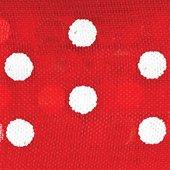 Club Lazos de Organza Verde con Lunares, Rojo, 33Piezas