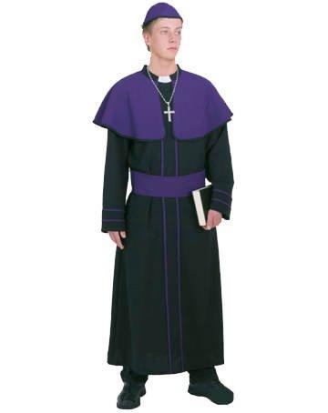 PARTY DISCOUNT Herren-Kostüm Kardinal, lila/schwarz, Gr. 50-52