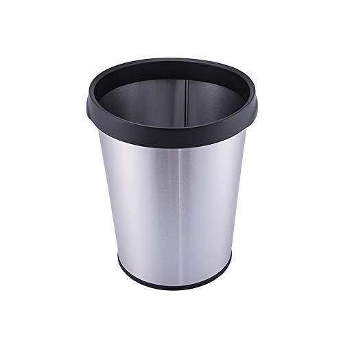 MOCHENG Öffnen Sie Top Papierkorb und Papierkorb, 12 Liter Edelstahl In -Home Recycling Bins(Round) (Papierkorb Edelstahl öffnen)