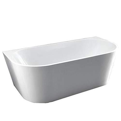 Bernstein Badshop Freistehende Badewanne NOVA mit 2 abgerundeten Ecken Acryl-Badewanne in Weiß - 170x80cm