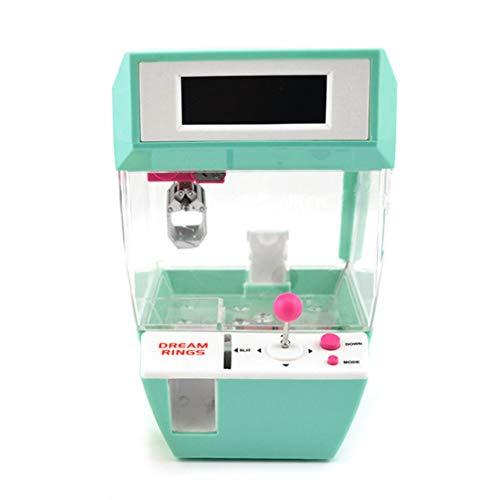 Münz Candy Grabber Balls Catcher Brettspiel Spaß Spielzeug Mini Crane Claw Maschine Mit Wecker Funktion Für Kinder (Farbe: Grün)