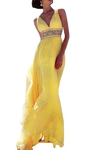 ivyd ressing Femme Strass Ceinture a ligne Prom robe robe de bal robe du soir Or - Doré