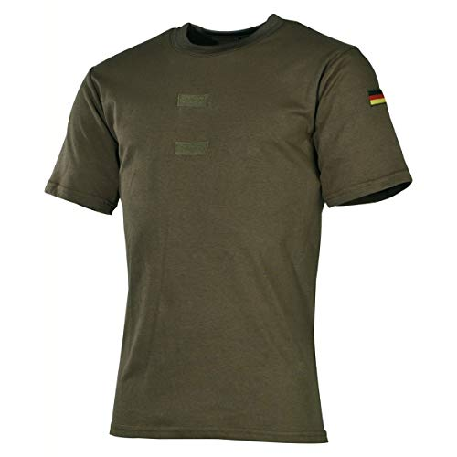 MFH BW Tropenhemd mit Abzeichen und Klett (Oliv/S)