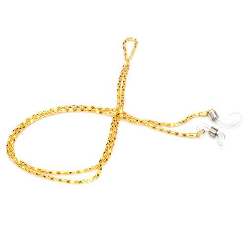 Nosii 1 STÜCK Brille Hals Kette Schnur Lanyard Retainer Anti-verloren Umhängeband String für Brillen Sonnenbrillen Lesebrille (Color : Gold)