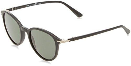 Persol Unisex-Erwachsene 3169 Sonnenbrille, Schwarz (Black/Polargreen), 50