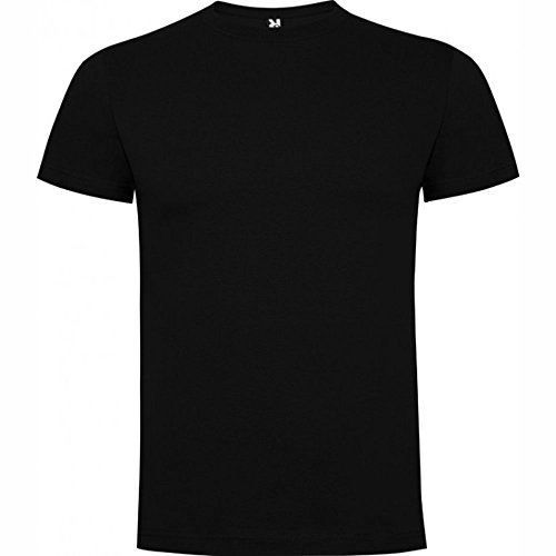 Camiseta de manga corta, de cuello redondo ROLY (M, NEGRO)