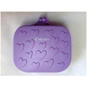 Étui pour lentilles de contact Kit de voyage avec pince à épiler et miroir intégré Violet