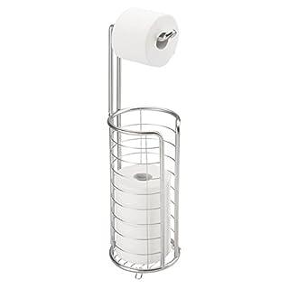 MDesign Toilettenpapierhalter Stehend   Moderner Papierrollenhalter Fürs  Badezimmer   Rostfreier Klopapierhalter Aus Gebürstetem Edelstahl   Silber