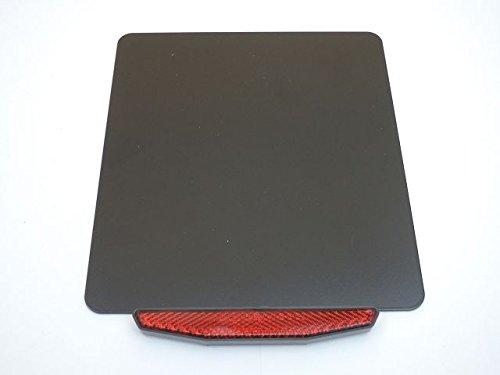 Kennzeichenhalter \'Basic-light\' ALU schwarz Reflektor Rückstrahler E-Prüfzeichen Gesamtgewicht 210 Gramm