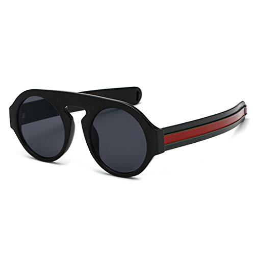 Yiph-Sunglass Sonnenbrillen Mode Sonnenbrille für Männer Frauen UV 400 Objektivschutz Sonnenbrille (Farbe : Black Frame Black Gray Piece)