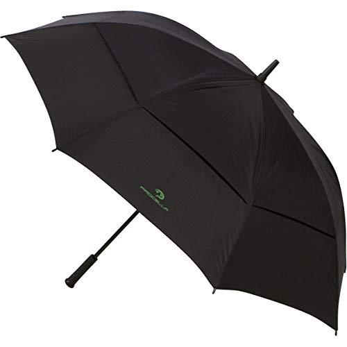 Procella Regenschirm Groß, XXL Sturmfest Golf Schirm für Damen und Herren, Windfest Stockschirm - von Fallschirmspringern getestet, Schützt Vor Regen, Wind & Sonne - Schwarz