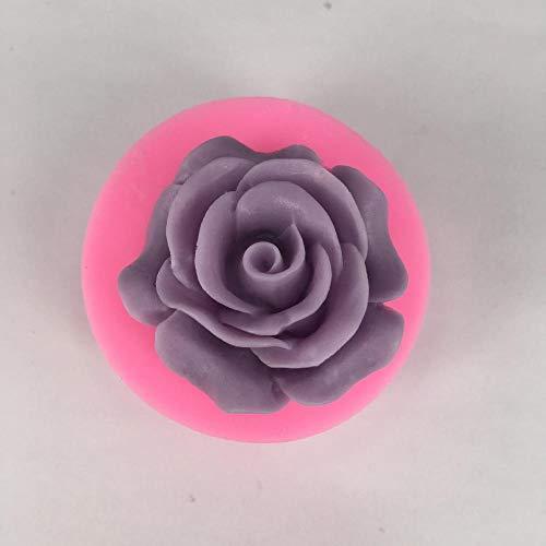 Htro Rose Blume Silikonform Fondant Dekoration Schokolade Keks Seife weichen Ton Polymer Clay Harz Backform