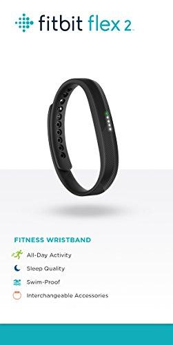 Fitbit Flex 2 Wireless Activity Tracker and Sleep Wristband (Black)