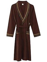 4d71780691 Long-Sleeved Robe Youth Dressing Gown Spring Autumn Bathrobes Medium Length  Sleepwear Knit Cotton Men s