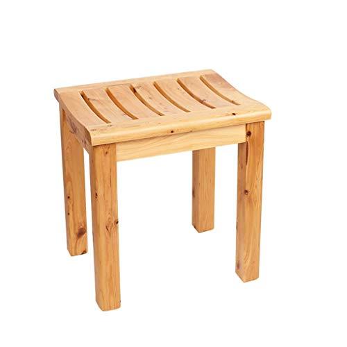 Duschhocker Badhocker Badsitz Tragbare Korrosionsschutz Holz Mobile Antibakterielle Zusatzbadezimmer Maximale Belastung 150 kg (Größe: 42x34x45 cm),42x34x45cm