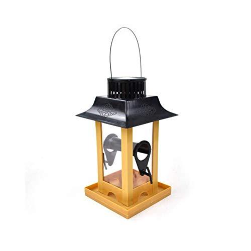 YaXuan Tragbares Solarlicht, Kreatives Outdoor-Bird-Feeder, energiesparendes LED-Licht Hängende große Samen Kapazität Bird Feeder Station Durable -