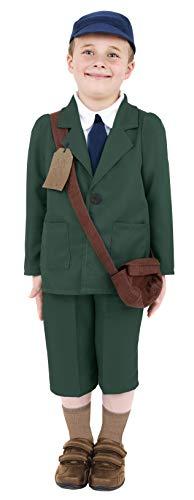Smiffys Zweiter Weltkrieg Evakuierter Junge Kostüm Mantel Hose Mütze und Tasche, - Weltkrieg 2 Boy Kostüm