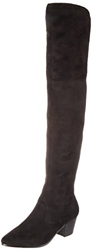 Buffalo London Damen BB 2002 Suede Stretch Stiefel, Schwarz (Black 01), 37 EU