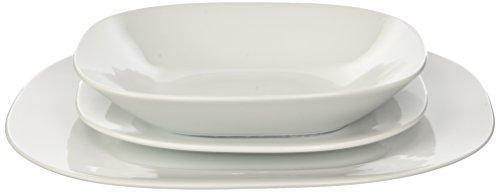 Expert Universelle- 6002 Set 3 Piece (Assiette Salade Assiette Bol à céréales) Porcelaine