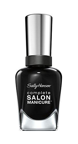 Sally Hansen Complete Salon Manicure Nagellack, 700 Hooked on Onyx/pflegender, tiefes Schwarz, 15 g