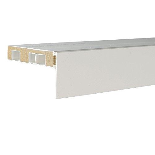 Liedeco Aufklipsblende Aufsteckblende für Gardinenschiene 5 cm/ 7,5 cm weiß (weiß, 50 mm) (Blende)