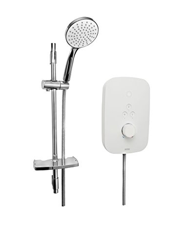 Bristan SOL95 W Solis Electric Shower, White Best Price and Cheapest