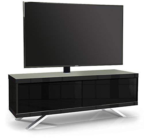 MDA Designs Tucana 1200 Hybrid Noir Complet Faisceau Thru Remote-Friendly 81,3 - 152,4 cm écran Plat Noir Brillant Meuble TV Cantilever