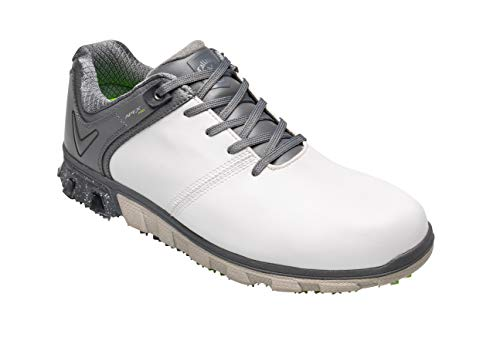 Callaway Apex PRO Waterproof Spikeless, Scarpe da Golf Uomo, Bianco White/Grey, 42 EU