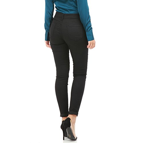 La Modeuse - Jeans femme coupe slim Noir