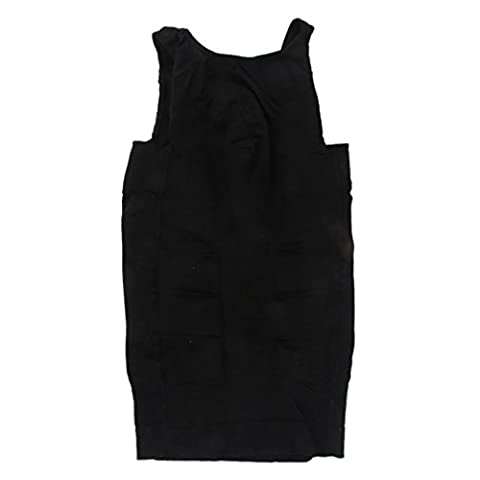 Männer T-Shirt Ärmellose Unterhemd Körperformer Hemd Shapewear Weste Shaper NEU - schwarz , M