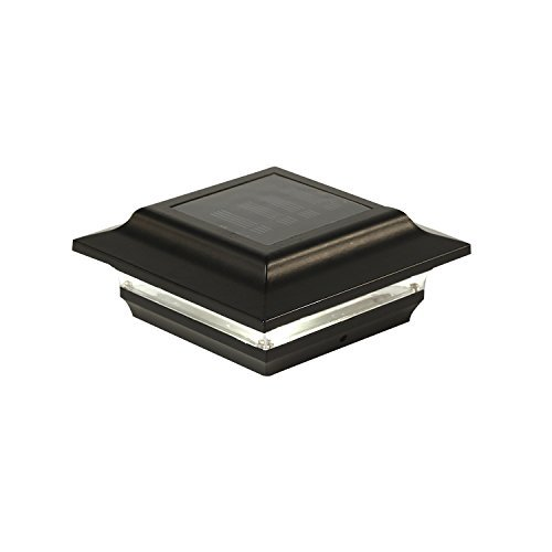 Classy Caps SL211B Aluminum Imperial Solar Post Cap, 4 x 4, Black by Classy Caps