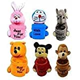 PRACHI TOYS Soft TOY Attractive Teddy Pen Stand Holder Adorable Gift For Kids Birthday,Combo Set Of 6