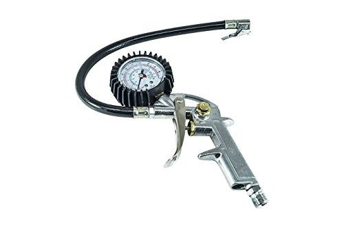 BES 23460 Pistola Manometro, Compressore Gonfiaggio Aria Pneumatico, Gomme Innesto Filettato