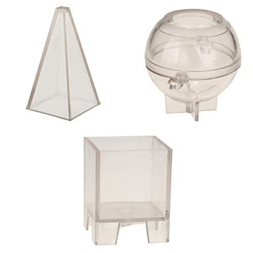 Fenteer Pyramide Kugel Quadrat Kerze Form Basteln Gießform Schmuck Mold Halskette Mould Schmuck Form -