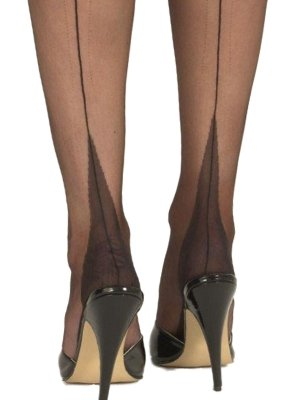 Nancies Fully Fashioned Point Heel Stockings