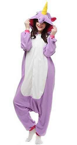 DATO-Ropa-de-Dormir-Pijama-Unicornio-Prpura-Cosplay-Disfraz-Animal-Unisexo-Adulto