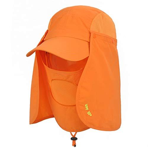 Qishanping Angeln Sonnenhut Herren Visier Hut Outdoor Cap UV-Schutz Hut (Color : Dark Gray)