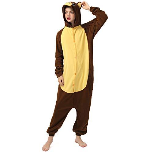 Katara 1744 (30+ Designs) Bären-Kostüm Belly, Unisex Onesie/ Pyjama-Qualität für Erwachsene & - Kuschel Bär Kostüm